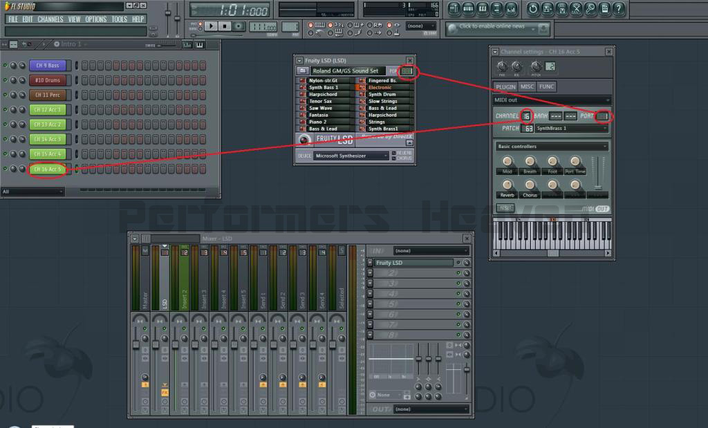 FL studio Channels check